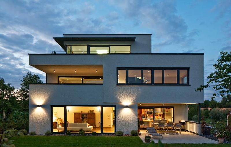 Moderne häuser versetztes satteldach  Moderne Architektur mit Flachdach Teil 2